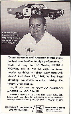 1967 grant rambler rebel sst great muscle car ad 695 1967 grant rambler rebel sst hayden proffitt original smaller muscle car ad sciox Images