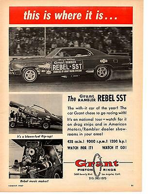 1967 grant rambler rebel sst great muscle car ad 695 1967 grant rambler rebel sst original grant piston ring ad sciox Images