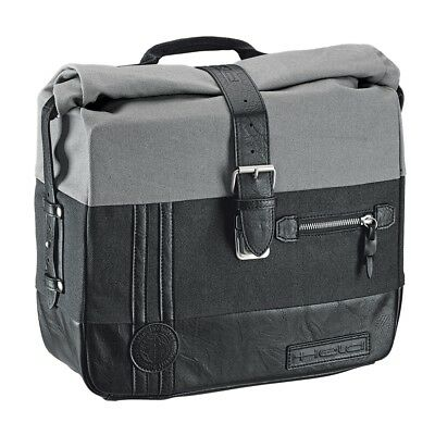 Motorcycle Saddlebag, Held Canvas, Grey Black, 2x12L