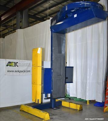 Used- Lantech S-300 Straddle-Type Semi Automatic Stretch Wrapper. Capable of spe