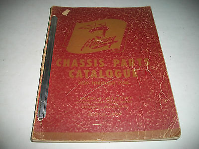 1939 40 41 42 47 1948 Mercury Original Illustrated Chassis Parts Catalog Clean
