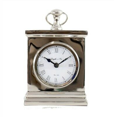 New Doyle Mantle Clock Silver