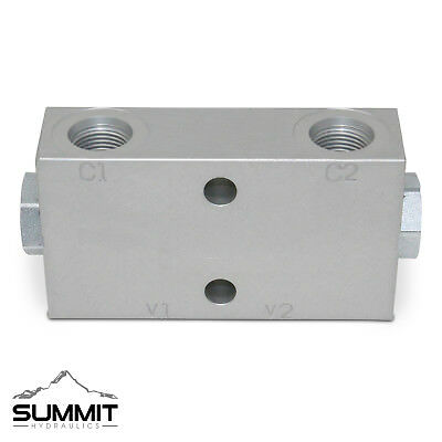 Double Pilot Operated Hydraulic Check Valve, #8 SAE Ports, 20 GPM