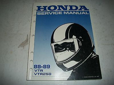 Official 1988-1989 Honda Vtr Vtr250 Motorcycle Shop Manual Unused Cmystor4More