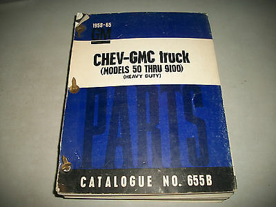 1958-1965 Chevrolet & Gmc Heavy Duty Trucks Master Parts Catalog  Model 50-9100