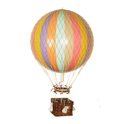 "XL Hot Air Balloon Model Pastel Rainbow 17"" Aviation Hanging Ceiling Home Decor"