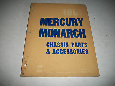 1961 Mercury & Monarch Chassis Parts & Accessories Parts Catalog Cdn