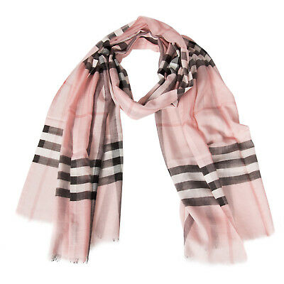 Lightweight Check Wool and Silk Scarf | Ash Rose