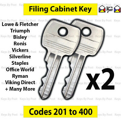 2 x Filing Cabinet Key Roneo, Vickers, Ronis, Office World, Staples, Bisley, L&F