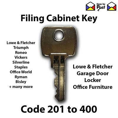 Filing Cabinet Spare Key Roneo, Vickers, Ronis, Office World, Viking Direct, L&F