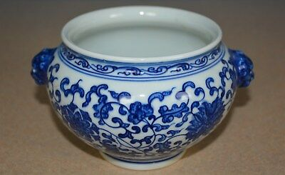 Fine Antique Chinese Blue And White Porcelain Bowl Qianlong Mark Rare I3991