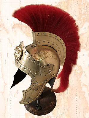 Medieval Helmet – Roman Imperator Antique Finish WITH STAND rare collectable