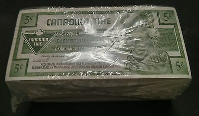 """UNC Unopened"" 2002 One Brick 500 Canadian Tire Money 5 Cents ""0230248500"""