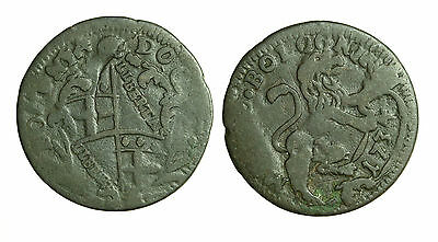 Bologna 1734 Pope Clement X11 Bronze Coin Italy Showing a Clear Date