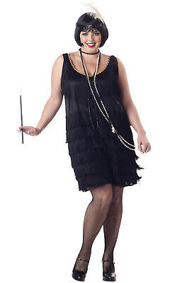Brand New Fashion Flapper Adult Plus Size Costume Roaring 20's