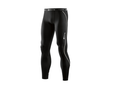 NEW RELEASE || Skins DNAmic Team Mens Compression Long Tights (Black)