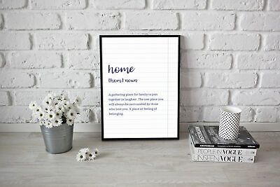 Home Definition Prints Family Artwork Quote Print