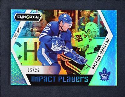 2017-18 17-18 UD Upper Deck Synergy Impact Players Blue IP-4 Patrick Marleau /26