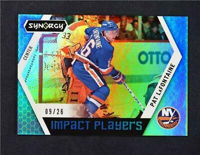 2017-18 17-18 UD Upper Deck Synergy Impact Players Blue IP-41 Pat LaFontaine /26
