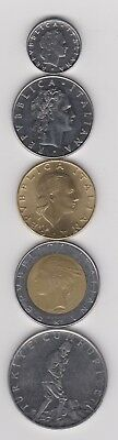 Italy - Coin Lot, Mixed Dates and Values - Excellent Condition