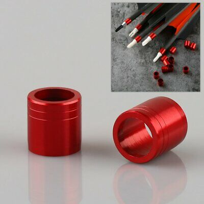 20Pcs Red Archery Explosion-proof Arrow Ring For OD 7.6mm Shaft Prolong Arrow