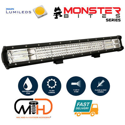 23inch Philips LED Light Bar Quad Row Combo 4x4 Work Driving Lamp Spot Flood 4x4