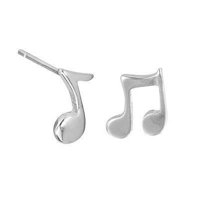 925 Silver Dainty Music Notes Mismatched Stud Earrings Musician Earrings Jewelry