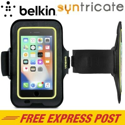 Belkin Sport-Fit Armband For Iphone 8 Plus/7 Plus/6S Plus - Black/yellow