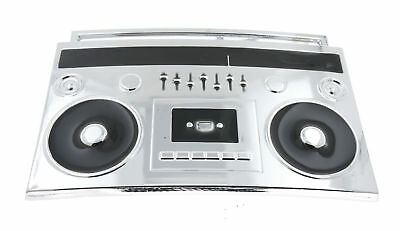 Boom Box Music Cassette Old School Chrome Metal Belt Buckle