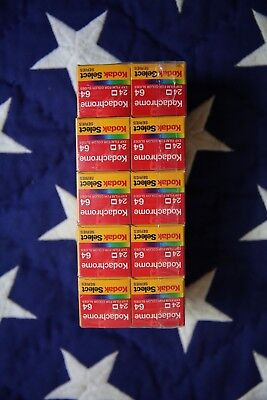 KODAK SELECT KODACHROME FILM 36 exposure 64 speed KR135-36 (expired 2001) TEN 10
