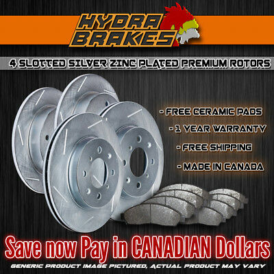FITS 2013 Fiat 500 Sport SLOTTED Brake Rotors Ceramic SLV