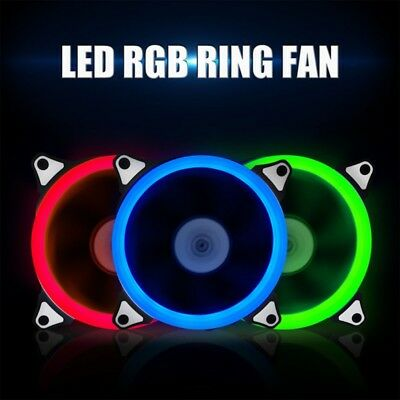 12V/12cm LED Neon Quite Mini Computer Case Cooling Fan PC CPU Case Cooler Fan AU
