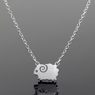 925 Silver Lovely Little Sheep Pendant Necklace Animal Necklace Women Jewelry