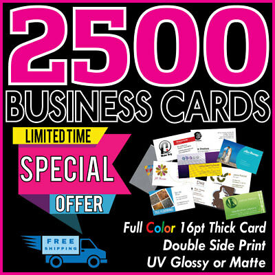 2500 Full Color Glossy/Matte 16pt Business Cards Printing--Limited Offer