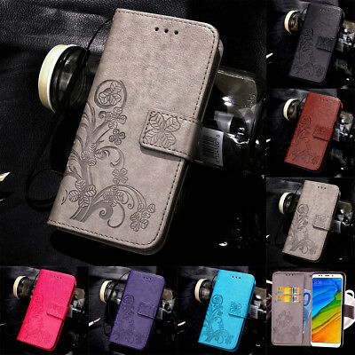 For Xiaomi Redmi Note 8 7 6 Pro Magnetic Pattern Leather Flip Wallet Case Cover