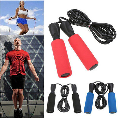 3m PVC Rubber Bearing Skipping Jump Rope Skip Cable Adjustable Speed Fitness