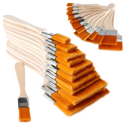12x Oil Painting Brushes Wooden Artist Acrylic Panit Art Supply Set Limne Nice