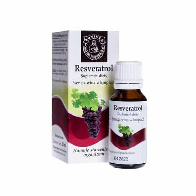 Resveratrol 20ml Drops essence wine Vitis vinifera L.  2.5% Antioxidants Heart