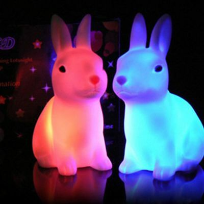 Color Changing Gift Rabbit Led Light For Home Party Decor LED Lamp Night Light