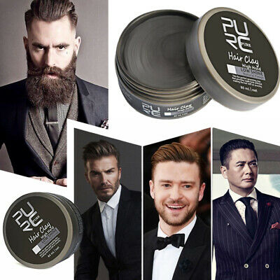 Men's Cement Clay Hair Styling Wax Strong Hold Barber Styling Pomade Hot 80ml