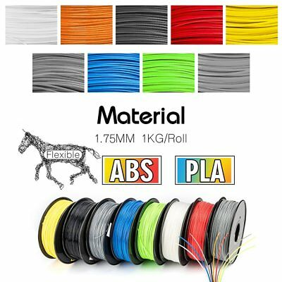 3D Printer Filament 1.75mm ABS/PLA 1KG/Roll Multi Colours Engineer Drawing Art
