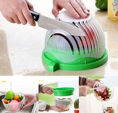Salad Cutter Bowl Perfect Fruit Vegetable Slicer Easy Washer Chopper 60 Second