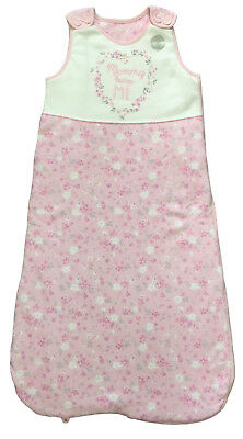 BABY GIRLS SLEEPING BAG EX UK STORE MUMMY LOVES ME 2.5 Tog 0-18m PINK FLORAL NEW