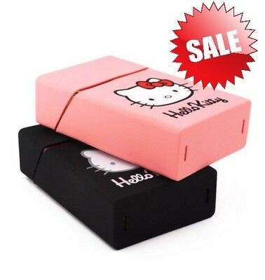Holds 20 Cigarettes Hello Kitty Lovery Silicone Cigarette Case Pink