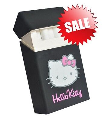 Holds 20 Cigarettes Hello Kitty lovery Silicone cigarette case black Free Ship