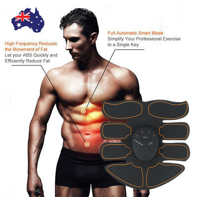 AU Muscle Stimulator Training Gear ABS Trainer Fit Body Home Workout Exercise WH
