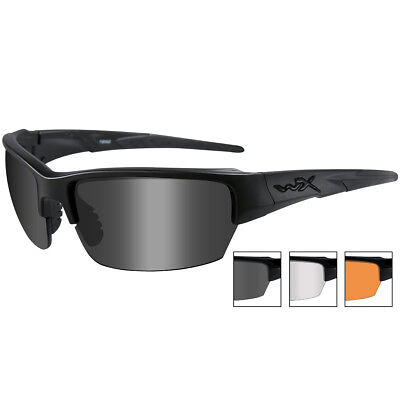 Wiley X WX Saint Police Ballistic Glasses Changeable 3 Lenses Matte Black Frame