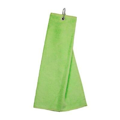 Masters Golf Tri-Fold Velour Handtuch - lime -