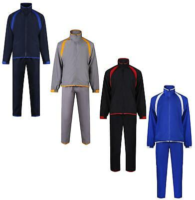 Kids Tracksuit Boys Girls Full Zip Track Top Track Bottoms 4 Colours Uneek New