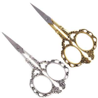 Magideal 2Pcs Vintage Embroidery Sewing Shears Cross Stitch Scissors Cutter